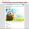 Email Notification About New Website Update